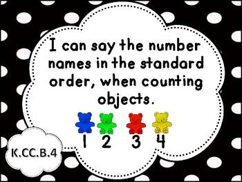 Tennessee Kindergarten Math I Can Statements - New Standards (2017)
