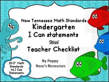 Tennessee Kindergarten Math I Can Statements - Ocean Theme