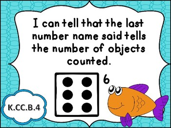 Tennessee Kindergarten Math I Can Statements - Ocean Theme