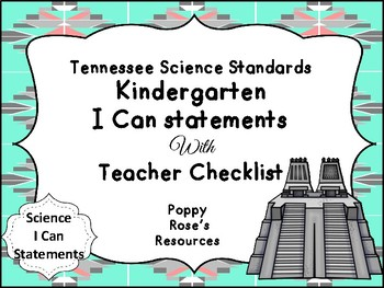 Tennessee Kindergarten Science I Can Statements
