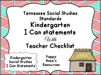 Tennessee Kindergarten Social Studies I Can Statements