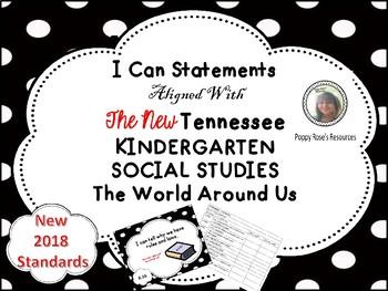 Tennessee Kindergarten Social Studies I Can Statements