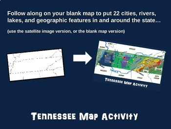 Tennessee Map Activity- fun, engaging, follow-along 20-slide PPT