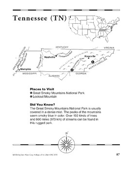 Tennessee (Map & Facts)