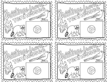 Tennessee Postcard - Classroom Postcard Exchange