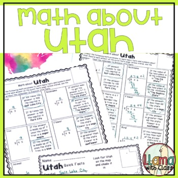 Math about Utah State Symbols through Division Practice