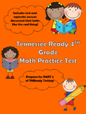 Tennessee Ready Math Practice Test 4th Grade PART 2 TNReady May 2016