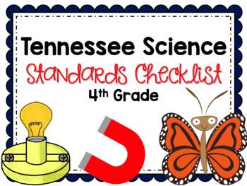 Tennessee Science 4th Grade Standards Checklist