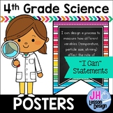 """Tennessee Science Standards 4th Grade: """"I Can"""" Posters"""