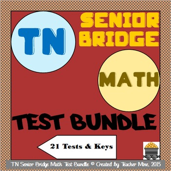 Tennessee Senior Bridge Math Test Bundle