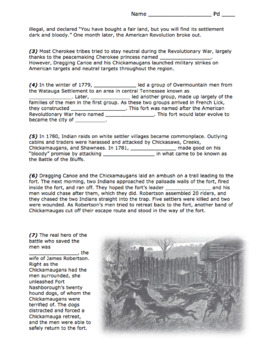 """Fort Nashborough """"Battle of the Bluff"""" Activity / Important Tennessee Settlers"""