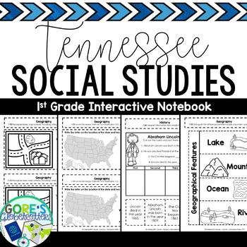 Tennessee Social Studies 1st Grade Interactive Notebook