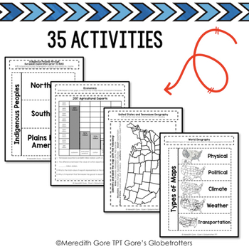Tennessee Social Studies 3rd Grade Interactive Notebook