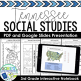 Tennessee Social Studies 3rd Grade Interactive Notebook Print and Digital