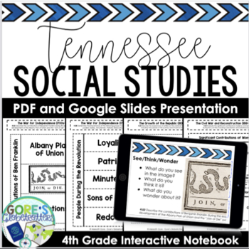 Tennessee Social Studies 4th Grade Interactive Notebook AND Sample Pages