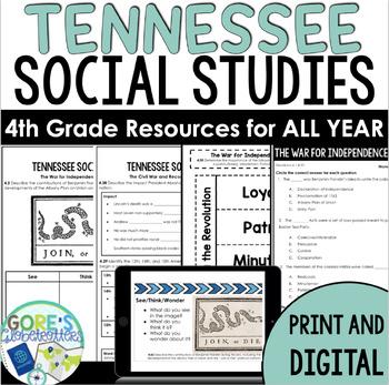 Tennessee Social Studies 4th Grade *MEGA BUNDLE*