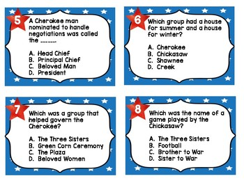Tennessee Social Studies 4th Grade Task Cards FREEBIE