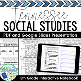 Tennessee Social Studies 5th Grade Interactive Notebook an