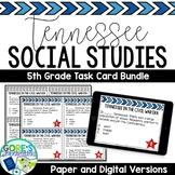 Tennessee Social Studies 5th Grade Task Cards BUNDLE