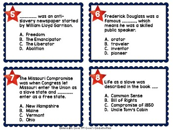 Tennessee Social Studies 5th Grade Task Cards FREEBIE