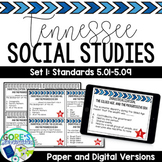 Tennessee Social Studies 5th Grade Task Cards Set 1- Current and NEW Standards