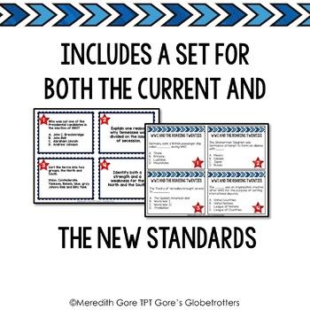 Tennessee Social Studies 5th Grade Task Cards Set 2