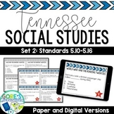 Tennessee Social Studies 5th Grade Task Cards Set 2- Current and NEW Standards