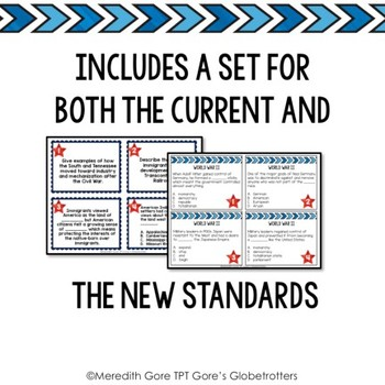 Tennessee Social Studies 5th Grade Task Cards Set 3 - Current and NEW Standards