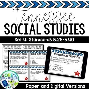 Tennessee Social Studies 5th Grade Task Cards Set 4