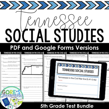 Tennessee Social Studies 5th Grade Test Bundle