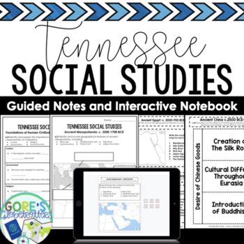 Tennessee Social Studies 6th Grade Interactive Notebook