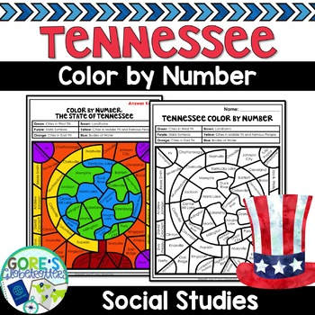 Tennessee Social Studies Color by Number