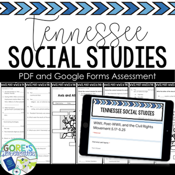 Tennessee Social Studies 5th Grade Test 3 NEW Standards