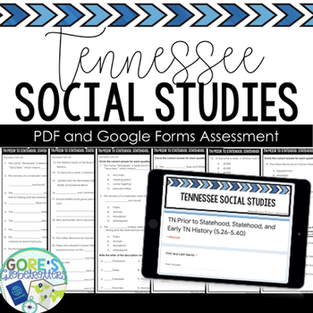 Tennessee Social Studies Test 5th Grade 5.42-5.60