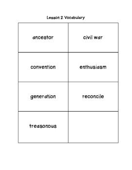Tennessee Social Studies Vocabulary