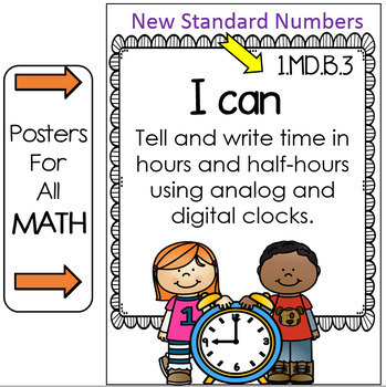 """Tennessee Standards 2017-2018 ELA and MATH """" I Can"""" Posters- FIRST GRADE"""