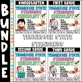 Tennessee Standards 2017-2018 ELA and MATH-- K-3 Binder Packet Bundle