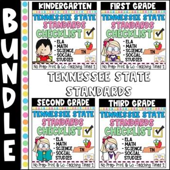 Tennessee Standards  ELA/MATH/SCIENCE-- K-3 Binder Packet Bundle