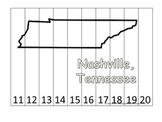 Tennessee State Capitol Number Sequence Puzzle 11-20.  Geography and Numbers.