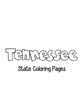 Tennessee State Coloring Pages