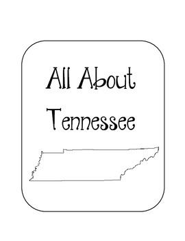 Tennessee State Lapbook. Interactive Notebook. US History and Geography