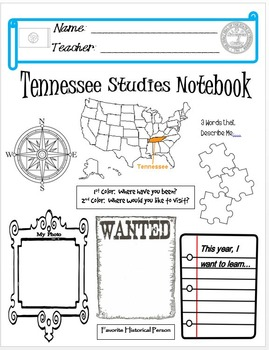 Tennessee Notebook Cover