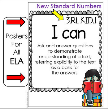 "Tennessee Standards 2017-2018 Grade 3 ELA and MATH   "" I CAN"" Posters"