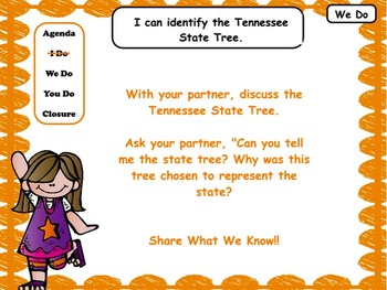 Tennessee State Symbols: Flipchart & Worksheets