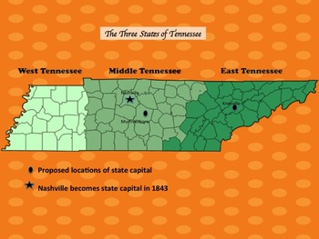 Tennessee - The Antebellum Years PPT and Study Guide