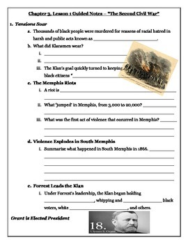 Tennessee Through Time: The Later Years - 5th Grade - Chapter 3 Bundle