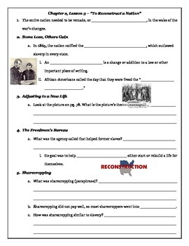 Tennessee Through Time - The Later Years; Chapter 2, Lesson 3 Guided Notes