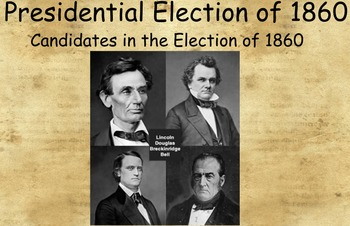Tennessee Through Time: The Presidential Election of 1860 Promethean Flipchart