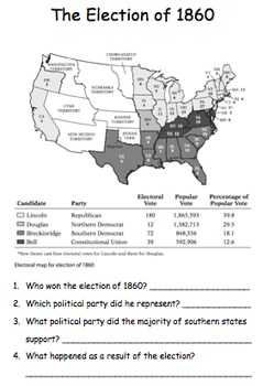 Tennessee Through Time the Later Years: The Presidential Election of 1860