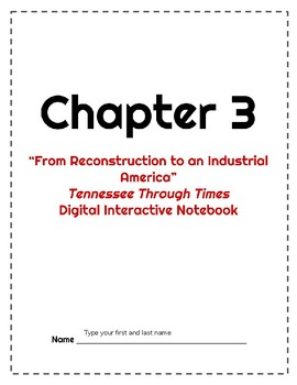 Tennessee Through Times Grade 5 Ch. 3 Interactive Notebook